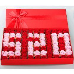 Hộp 77 bông hồng sáp thơm 520 Anh yêu em quà tặng giá sỉ