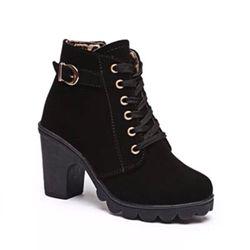 giày bot nữ góc vuông phụ kiện giá sỉ