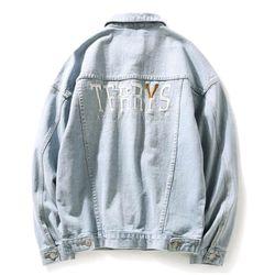 áo khoác jeans bò thời trang UniSex Nam nữ thêu giá sỉ