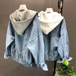 áo khoác jeans bò thời trang UniSex Nam nữ nón đen trắng xám giá sỉ