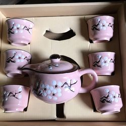 Bộ ấm tách trà hoa mai giá sỉ