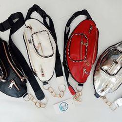 Túi đeo bao tử nam nữ đính viền bi giá sỉ, giá bán buôn