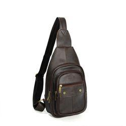 Túi da đeo chéo CNT Unisex MQ11 phong cách Hàn Quốc NÂU giá sỉ