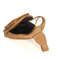 Túi da đeo chéo CNT Unisex MQ11 phong cách Hàn Quốc Nâu giá sỉ, giá bán buôn
