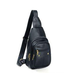 Túi da đeo chéo CNT Unisex MQ11 nhiều màu phong cách Hàn Quốc ĐEN giá sỉ