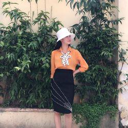 Chân váy công sở vải thun umi hàn quốc giá sỉ