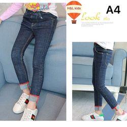 quần jeans bé gái order 25n đại - QBG008-8135 giá sỉ