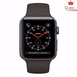 Đồng hồ Apple Watch Series 3 38mm xám Space Gray Aluminum Case with Gray Sport Band MR352Xám - Xám