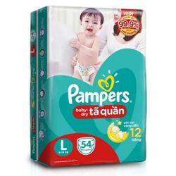 Tã Quần Pampers Gói Đại L54 PAMPERS DIAPER PANTS L54 LARGE - XL Size 11-17kg 21 giá sỉ