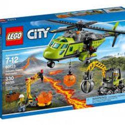 MÔ HÌNH TRỰC THĂNG NÚI LỬA CHỞ HÀNG LEGO 60123