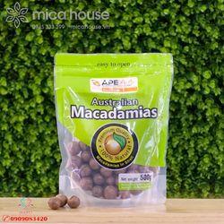 Hạt MACADAMIA ÚC nguyên vỏ ăn liền