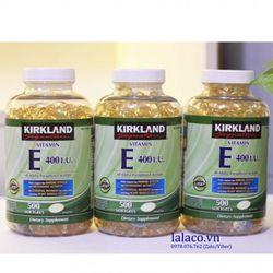 Vitamin E Thiên Nhiên 400 IU Kirkland Signature 500 Viên Của Mỹ giá sỉ