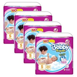 Combo 2 gói Tã - Bỉm Quần Bobby S24 4-8kg 24 miếng tặng thêm 1 miếng Free - S Size 4-8kg 24 giá sỉ