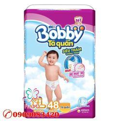 Bỉm – Tã quần BOBBY XL48 - Size XL 48 Miếng Cho bé 11 – 17Kg giá sỉ