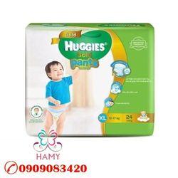 Bỉm - Tã quần Huggies Gold Bé trai XL24 size XL 24 miếng dành cho bé 11-17kg giá sỉ