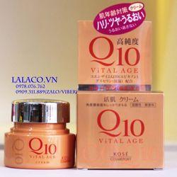 Kem dưỡng chống lão hóa Kose Q10 Vital Age 40g Nhật Bản giá sỉ