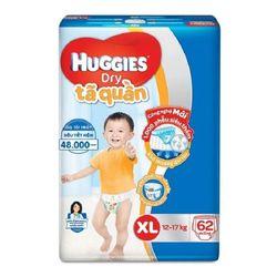 Tã - bỉm quần Huggies Dry Pants Super Jumbo XL62 - Tặng kèm 1 ráy tai có đèn - XL Size 11-17kg 62 giá sỉ