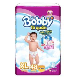 Bỉm – Tã quần BOBBY XL48 - Size XL 48 Miếng Cho bé 11 – 17Kg - XL Size 11-17kg 48 giá sỉ