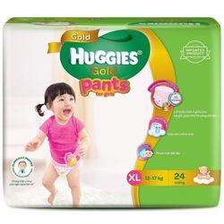 Tã quần HUGGIES GOLD Bé gái XL24 từ 12 - 17kg - XL Size 11-17kg 24 giá sỉ