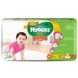Tã quần HUGGIES GOLD Bé gái M34 từ 12 - 17kg - M Size 5-12kg 34 giá sỉ