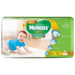 Tã-bỉm quần HUGGIES GOLD Bé trai M34 6-12kg - M Size 5-12kg 34 giá sỉ
