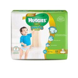Combo 2 gói Bỉm - Tã quần Huggies Gold Bé trai XL24 size XL 24 miếng dành cho bé 11-17kg - XL Size 11-17kg 24 giá sỉ