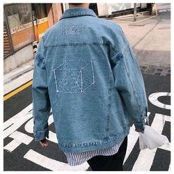 áo khoác jeans bò thời trang UniSex Nam nữ thêu xanh giá sỉ