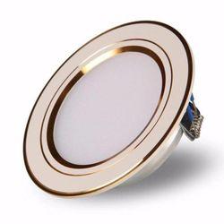 Đèn led downlight âm trần ánh sáng màu vàng viền vàng công suất 7W sang trọng - White