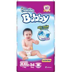 Combo 2 gói Tã - Bỉm dán Bobby siêu mỏng XXL34 - XXL Size 14-25kg 34 giá sỉ