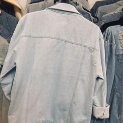 áo khoác jeans bò thời trang UniSex Nam nữ trắng rách giá sỉ