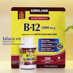Vitamin Kirkland Quick Dissolve B-12 5000mcg 300 Viên giá sỉ