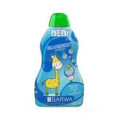 DẦU GỘI VÀ TẮM DƯỠNG BARWA BEBI KIDS - BLUEBERRY380ML