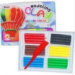 WINQ ĐẤT NẶN 6 MÀU D-06 6 COLOR WINQ PLASTIC CLAY D-06 - Nhiều màu