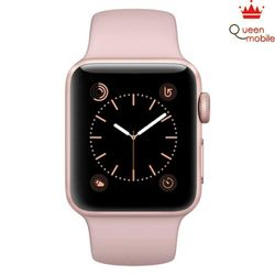 Apple Watch 38mm Rose Gold Aluminum Case with Pink Sand Sport Band MNNH2LL/A