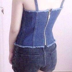 Áo dây jeans giá sỉ