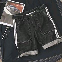 Short jean nam viền hông giá sỉ