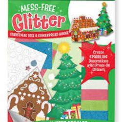 Bộ làm thủ công tranh kim tuyến cây thông Noel và nhà Gingerbread Melissa Doug Free Glitter