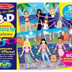 Bộ hình dán chủ đề thời trang hiệu ứng 3D Melissa Doug