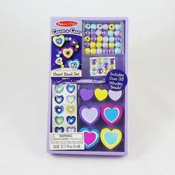 Bộ trang trí phụ kiện trái tim Melissa Doug Heart Bead Set