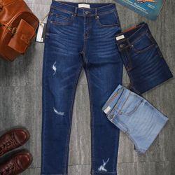 Jeans Nam rách form ôm