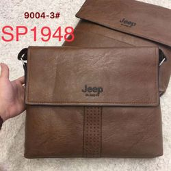 sp001948- 9004-3 Túi chéo nam JEEP nắp lửng dải da dập lỗ giá sỉ