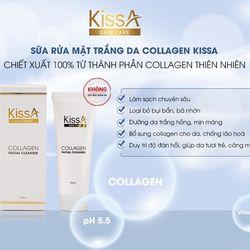 Sữa Rửa Mặt Trắng Da Collagen KissA - Chính Hãng giá sỉ