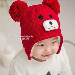 mũ len lót lông che tai trẻ em giá sỉ
