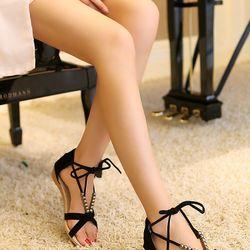 Sandal đế thấp cột dây giá sỉ