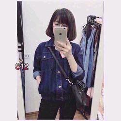 áo khoác jeans túi vuông giá sỉ