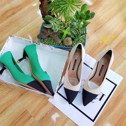sp1543-1544 giày cao gót vải thô 2màu DP giá sỉ
