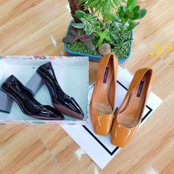 SP1555-1556 giày cao gót màu trơn gót caro nhí SHIYA… giá sỉ