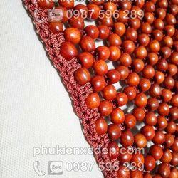 Đệm Lót ghế ô tô hạt gỗ Hương đan viền thêu hoa văn giá sỉ