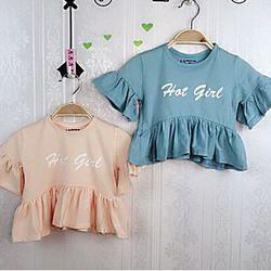 áo thun bé gai tay bèochất thun mịn-đẹp cotton 100 giá sỉ