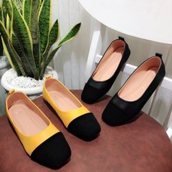 giày búp bê phối màu giá sỉ